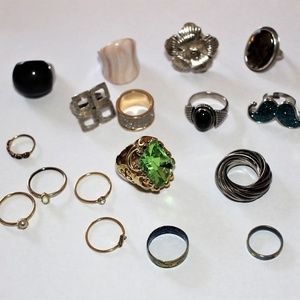 16 Misc Rings Bundle buy! Miss match sizes!